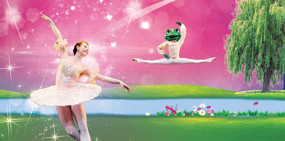 A princess and a frog ballet dancing