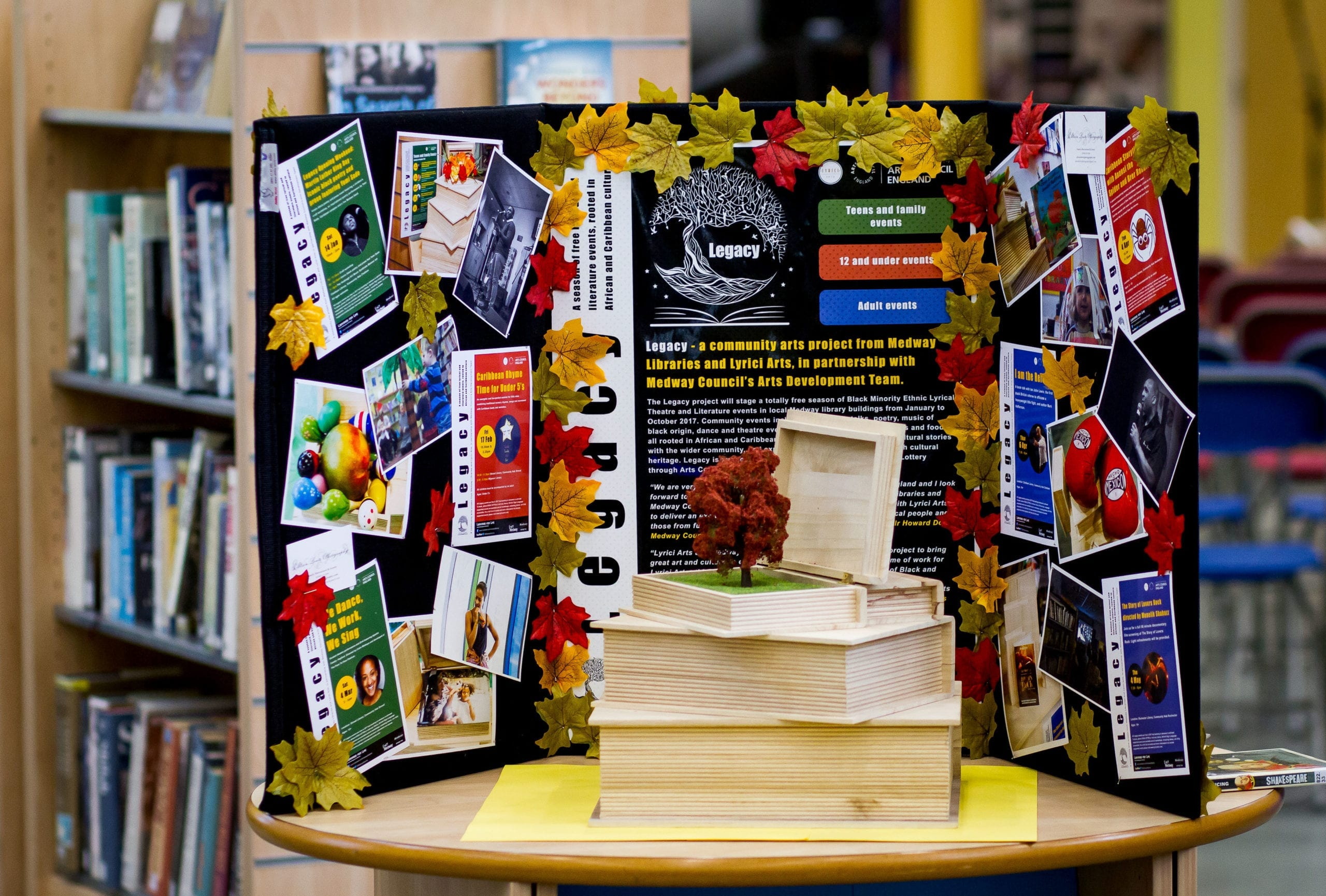 A Legacy display at a library