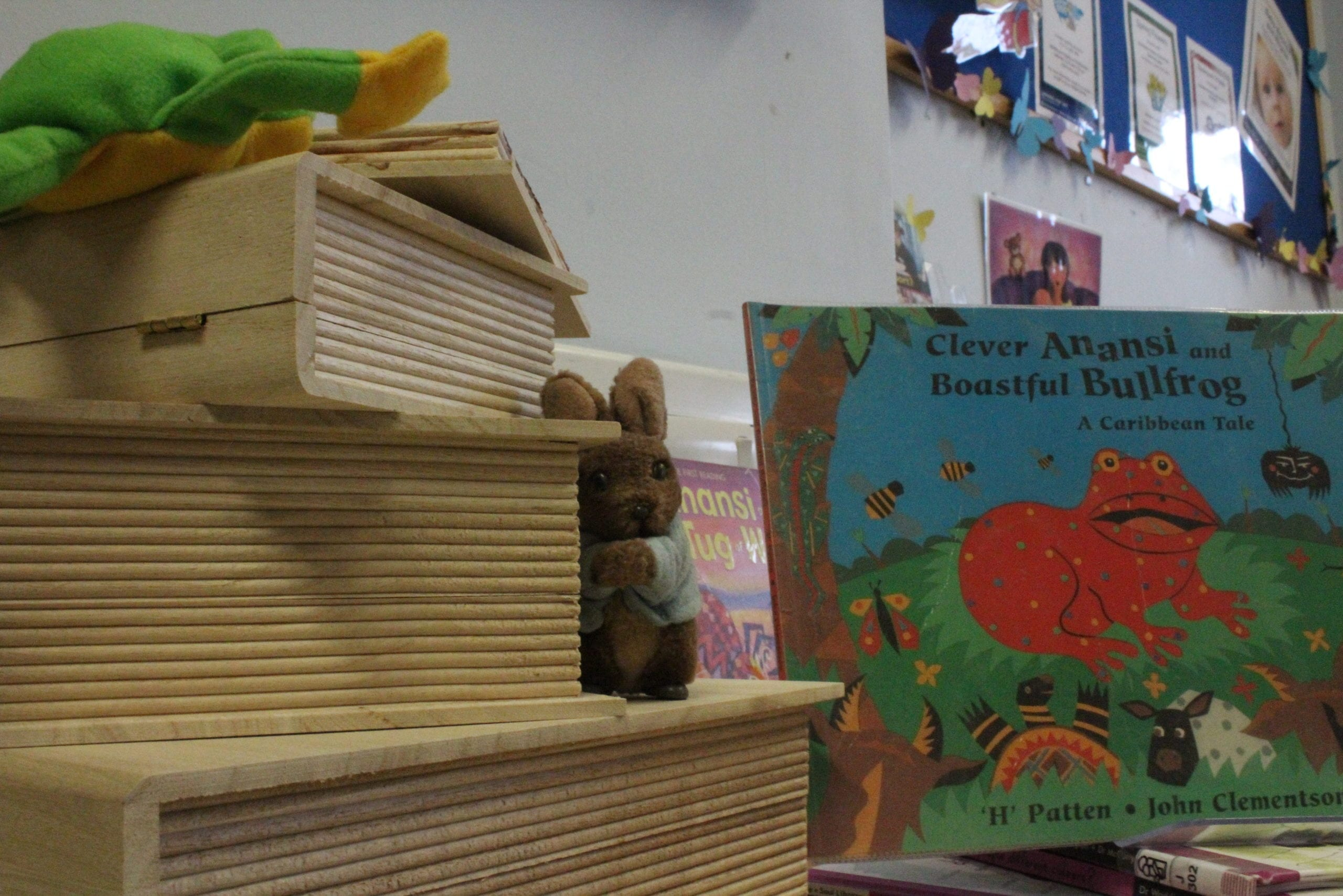 A book display in a library