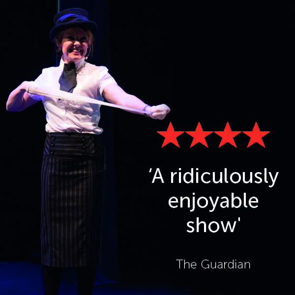 A four star Guardian review reading: 'A ridiculously enjoyable show'