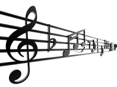 A line of sheet music