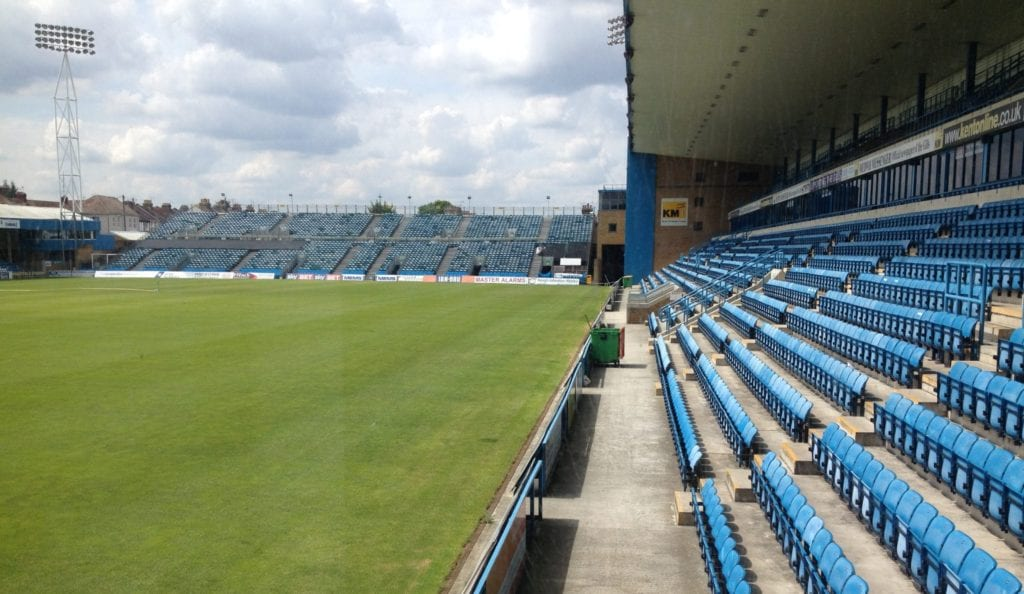An empty football arena