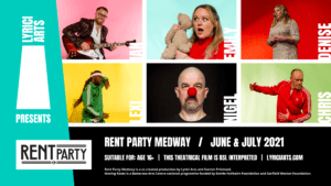 A poster for Rent Party Medway with a cast of six performers
